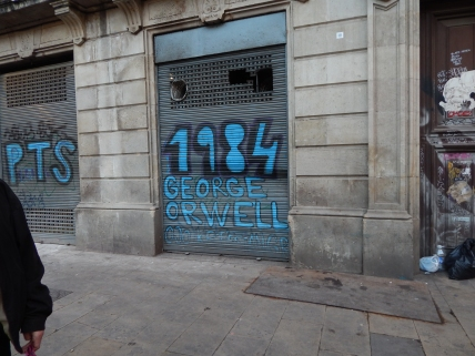 "In Placa de George Orwell; if you're wondering how many times I brought up Homage to Catalonia this week, the answer is ""A Lot."""